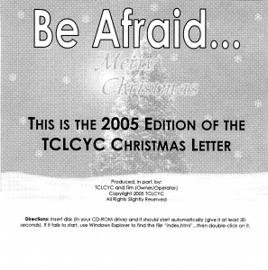 2005 Christmas Letter CD Label
