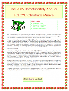 2005 Christmas Letter Introduction